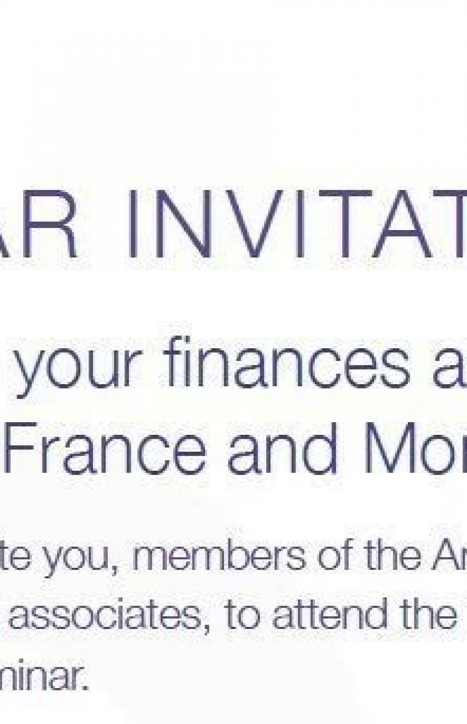 October 2017 – free Financial Seminar in Nice