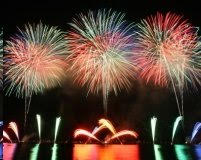 August 2017 Dinner and firework concert at the 3.14 Beach Restaurant on the Croisette