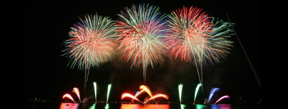 August 2018 – Annual Cannes Pyrotechnic Art Festival and Dinner on the Croisette Beach